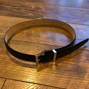 Calvin Klein Black Italian Calfskin Belt Medium